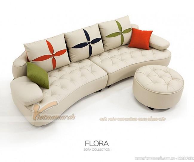 Sofa đẹp kiểu dáng hiện đại, trẻ trung, năng động cho phòng khách
