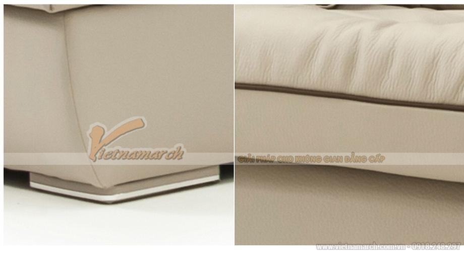 Sofa góc chữ L màu trắng phong cách hiện đại