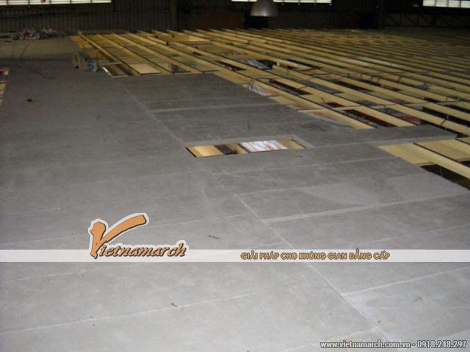 Tấm xi măng Duraflex làm lót sàn 01