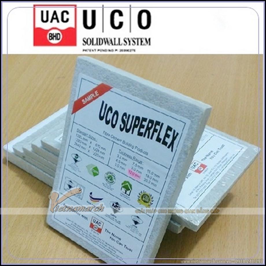 Tấm xi măng UCO làm trần nổi chịu nước