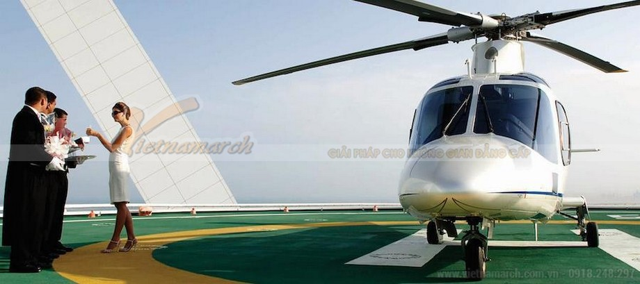 Trải nghiệm thú vị cùng trực thăng cao cấp
