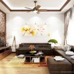 Thiết kế nội thất biệt thự Hoa Sữa sang trọng, ấm cúng với nhiều nội thất gỗ tự nhiên