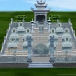 Thiết kế lăng mộ đẹp khuôn viên 10 phần mộ tại Ứng Hòa – Hà Nội