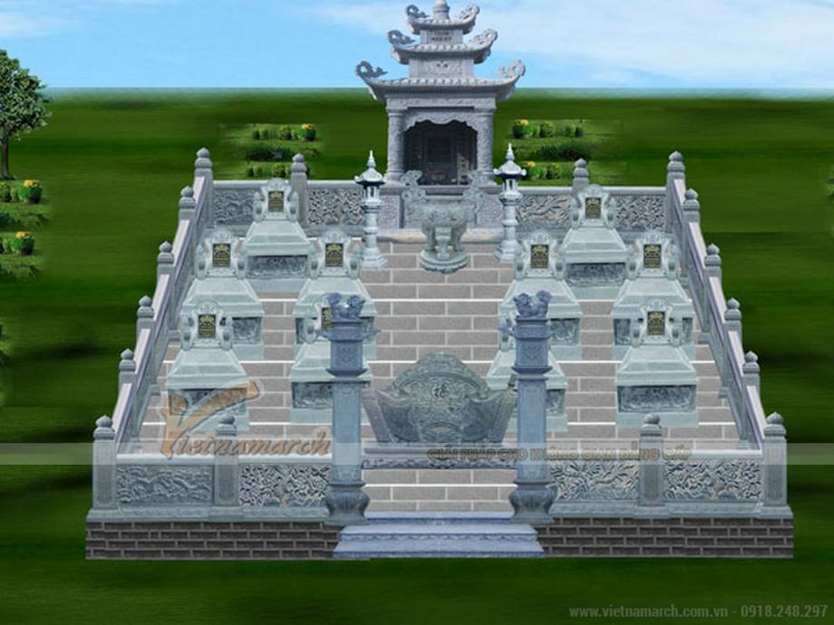 Phương án thiết kế lăng mộ được đưa ra
