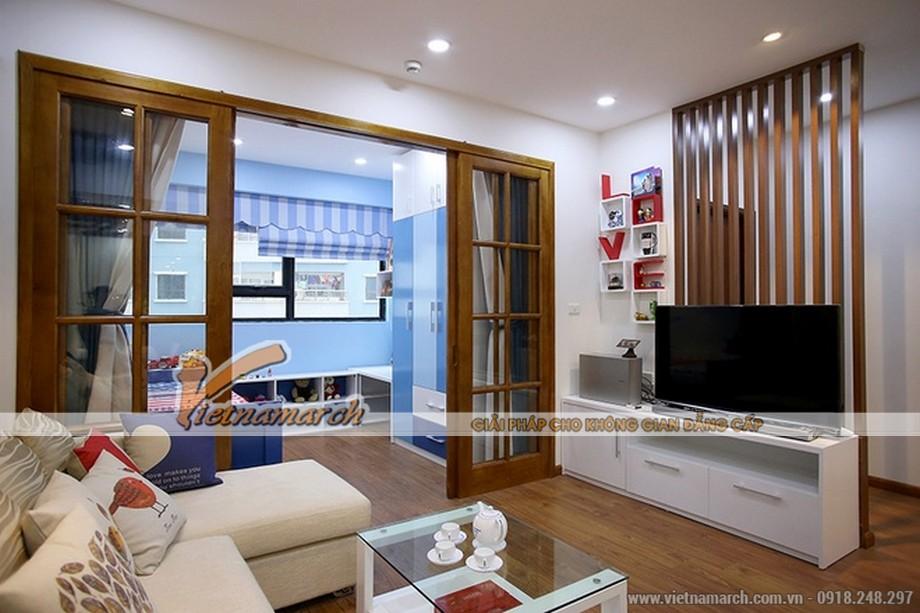 Phòng khách với thiết kế đơn giản đa sắc màu