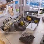 Thiết kế nội thất căn hộ Duplex sang trọng có 1-0-2 tại Đà Nẵng