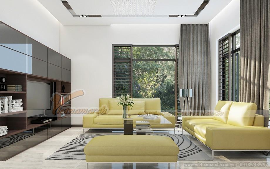 Thiết kế nội thất phòng khách biệt thự Hoa Anh Đào - Một ý tưởng thiết kế táo bạo với cảm hứng từ ánh sáng