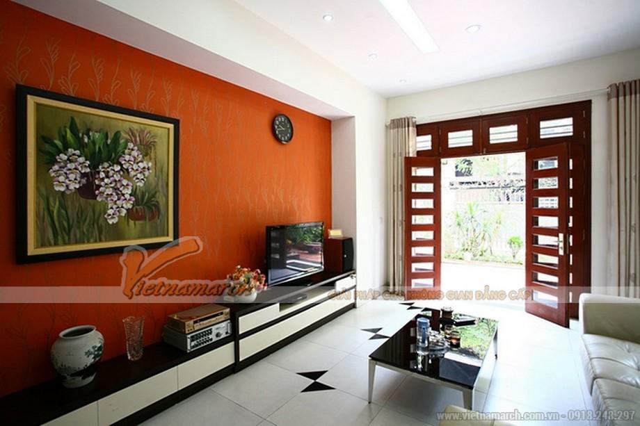 Phòng khách trang nhã và hiện đại với nội thất đơn giản