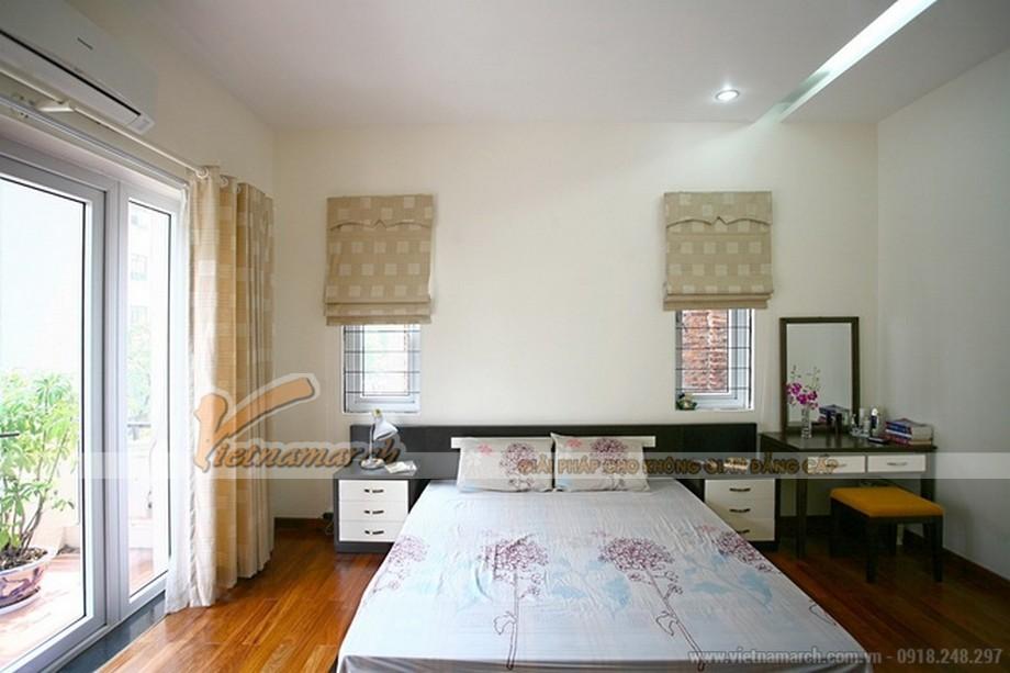 Phòng ngủ nhẹ nhàng với gam màu plaster