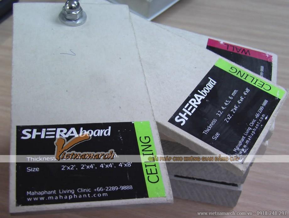 Tấm xi măng Shera làm lót mái - 01