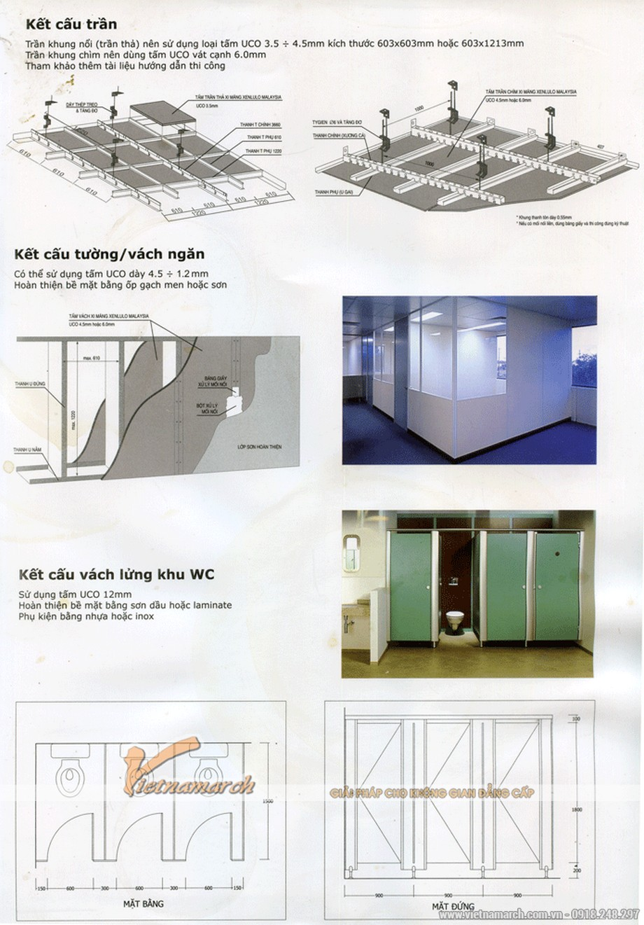 Tấm trần thả chịu nước UCO phủ PVC - 03