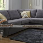 Mẫu sofa vải nỉ khung ghế gỗ dầu kiểu đặt góc cho phòng thêm rộng- Mã: SVG-058