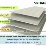 Tấm  xi măng Shera làm trần chìm chịu nước