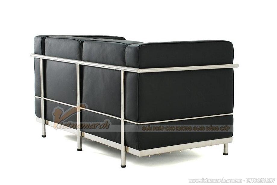 Mẫu ghế sofa da văng hai chỗ ngồi nhìn như chiếc giường thu gọn - 01