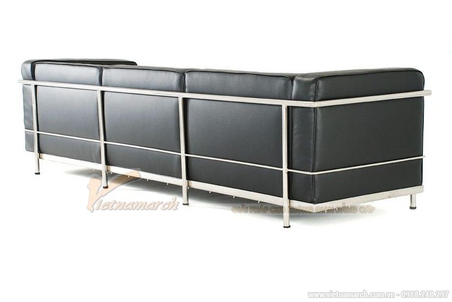 Mẫu ghế sofa văng da màu đen cực sang trọng - 03