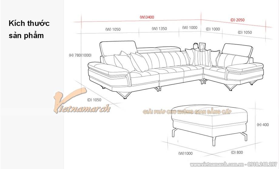 Mẫu sofa góc đẹp hiện đại phù hợp với mọi phòng khách