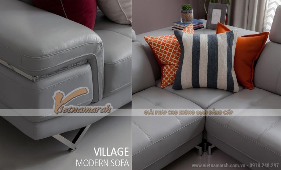 Ghế sofa anh Kiên lựa chọn là chất liệu da dễ làm sạch