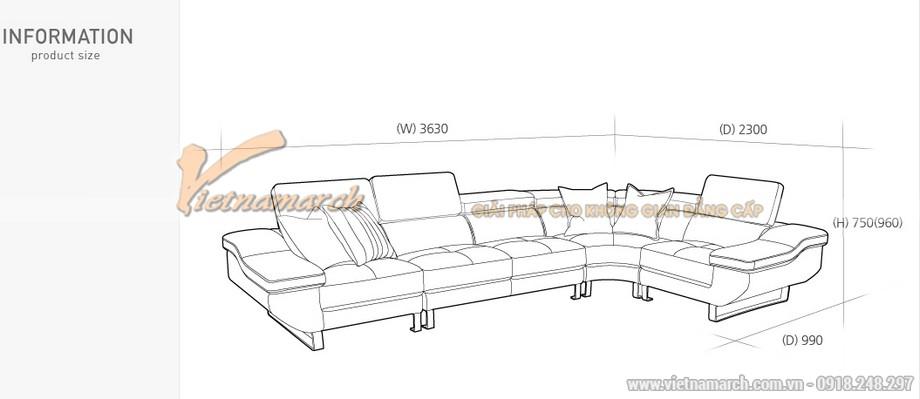 Mẫu sofa góc đẹp, màu sắc trẻ trung-06