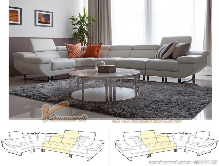 Mẫu sofa góc đẹp, màu sắc trẻ trung-04