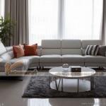 Mẫu sofa góc đẹp, màu sắc trẻ trung hợp với phòng khách chung cư – Mã: SDG-019