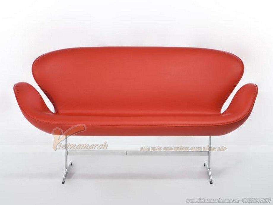 Mẫu ghế sofa da đơn xinh xắn cho không gian phòng khách - 02