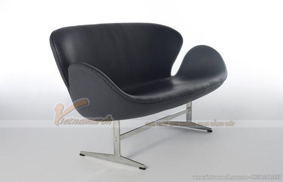 Mẫu ghế sofa da đơn xinh xắn cho không gian phòng khách - 03