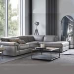 Mẫu ghế sofa góc bọc da khung Inox chân bọc nhựa cứng sang trọng – Mã: SDG-065
