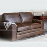Mẫu ghế sofa da văng đơn giản cho không gian phòng khách – Mã: SDV-077