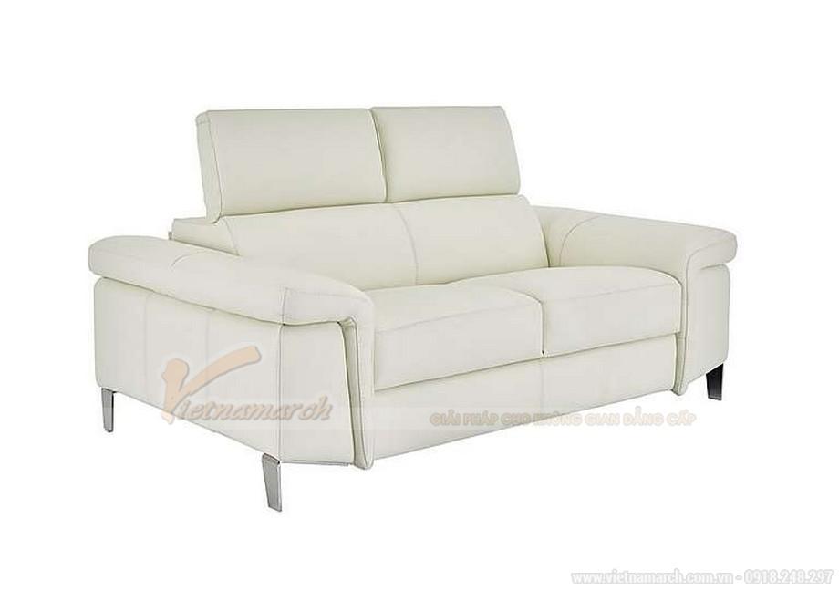 Bộ ghế sofa văng chất liệu da cho phòng khách diện tích nhỏ - 02
