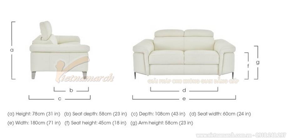 Bộ ghế sofa văng chất liệu da cho phòng khách diện tích nhỏ - 04