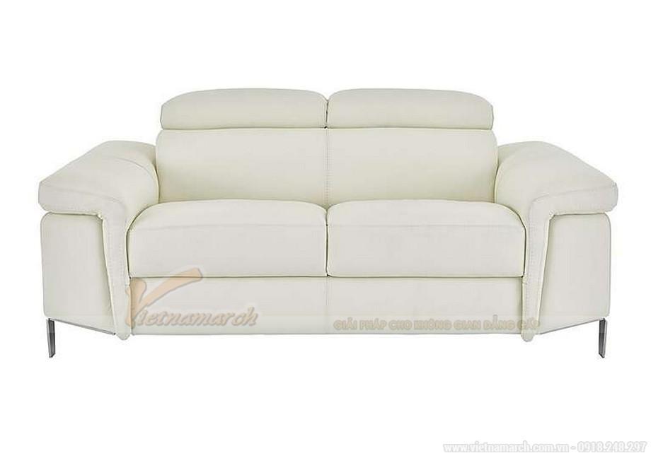 Bộ ghế sofa văng chất liệu da cho phòng khách diện tích nhỏ - 01