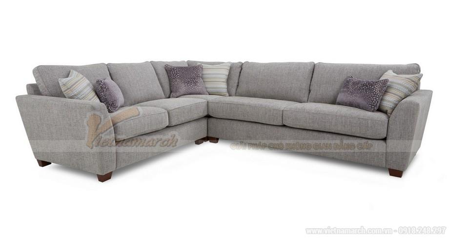 Chiêm ngưỡng 2 mẫu ghế sofa góc chất liệu vải nỉ cực mềm mại - 01