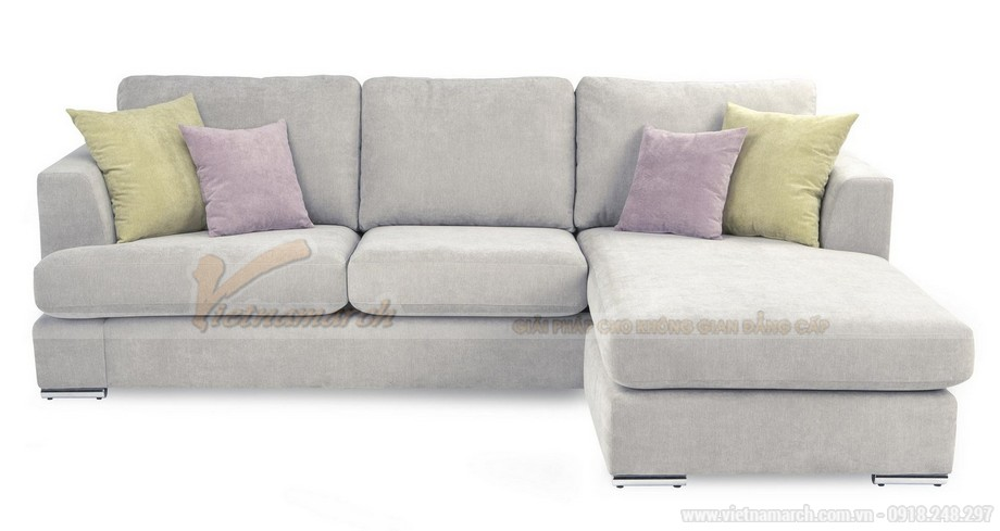 Chiêm ngưỡng 2 mẫu ghế sofa góc chất liệu vải nỉ cực mềm mại - 04