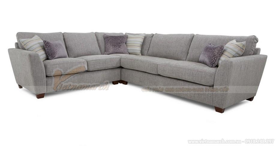 Chiêm ngưỡng 2 mẫu ghế sofa góc chất liệu vải nỉ cực mềm mại - 02