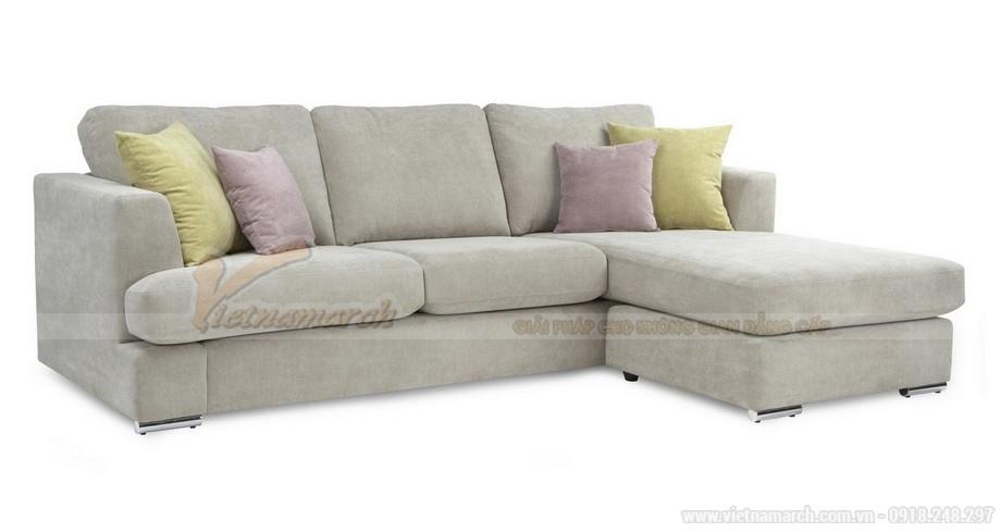 Chiêm ngưỡng 2 mẫu ghế sofa góc chất liệu vải nỉ cực mềm mại - 05