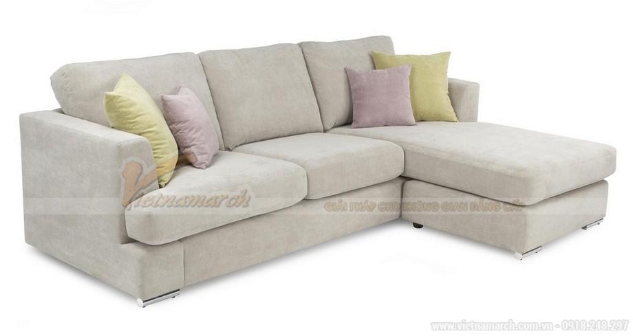 Chiêm ngưỡng 2 mẫu ghế sofa góc chất liệu vải nỉ cực mềm mại - 06