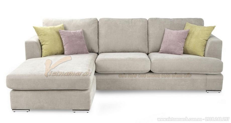 Chiêm ngưỡng 2 mẫu ghế sofa góc chất liệu vải nỉ cực mềm mại - 07