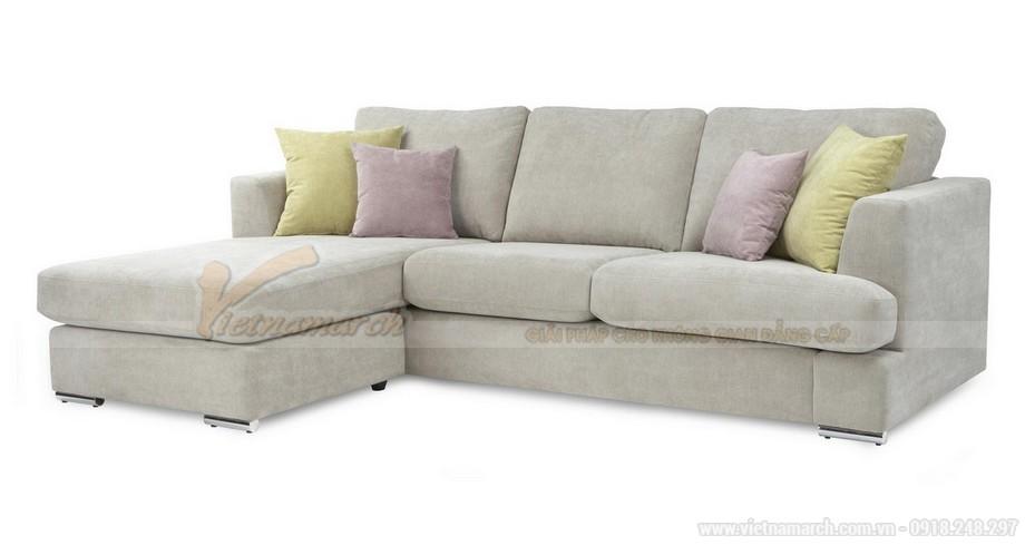 Chiêm ngưỡng 2 mẫu ghế sofa góc chất liệu vải nỉ cực mềm mại - 08