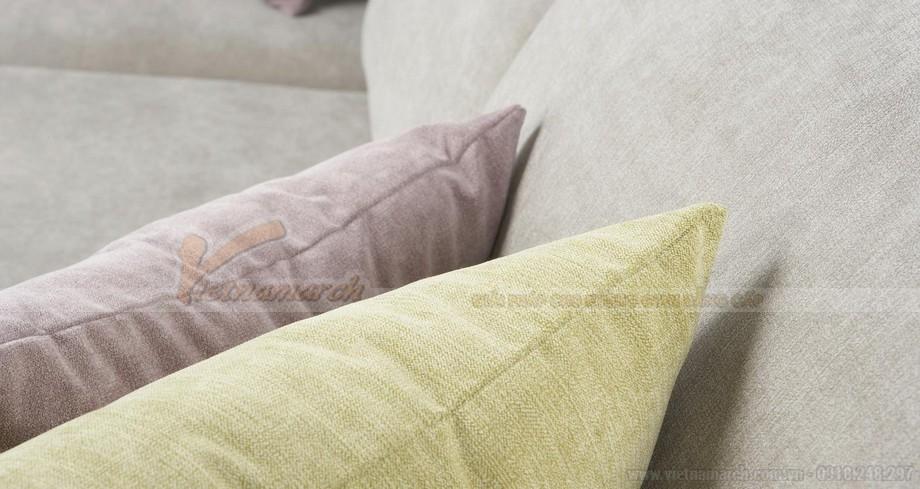 Chiêm ngưỡng 2 mẫu ghế sofa góc chất liệu vải nỉ cực mềm mại - 09