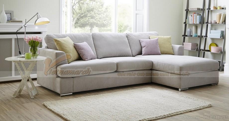 Chiêm ngưỡng 2 mẫu ghế sofa góc chất liệu vải nỉ cực mềm mại - 10