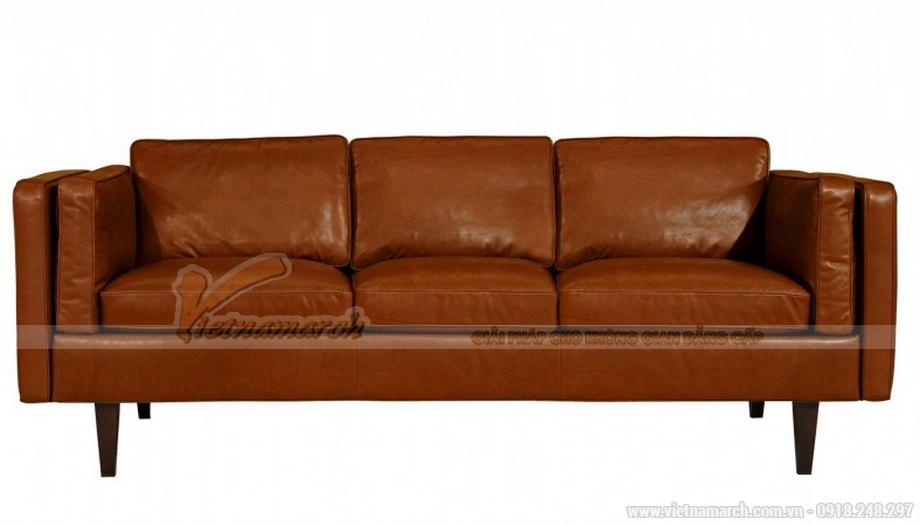 Mẫu ghế sofa da văng cao cấp da nhập khẩu tại Ý - 02