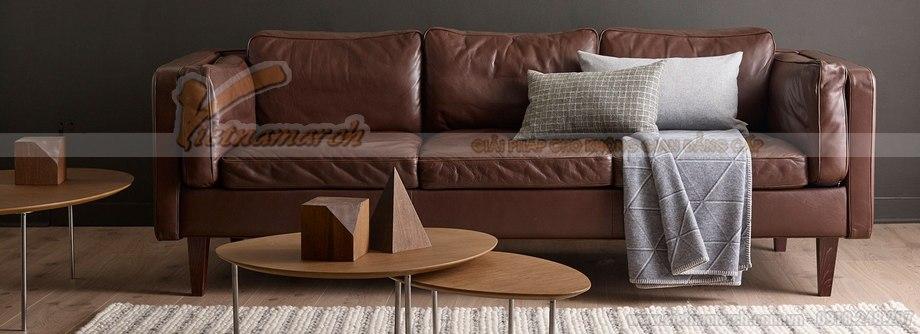 Mẫu ghế sofa da văng cao cấp da nhập khẩu tại Ý - 01