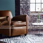 Ghế sofa da bò đơn mang phong cách cổ điển Pháp – Mã: SDV-073