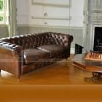 Mẫu ghế sofa da văng cổ điển cho không gian phòng khách trang nhã – Mã: SDC-050