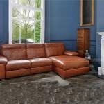 Mẫu thiết kế ghế sofa góc chất liệu da bò 2016 – Mã: SDG-066