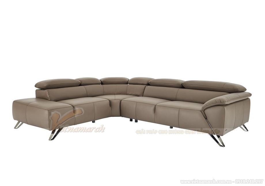 Ghế sofa góc chất liệu da nhập khẩu Đức - 02