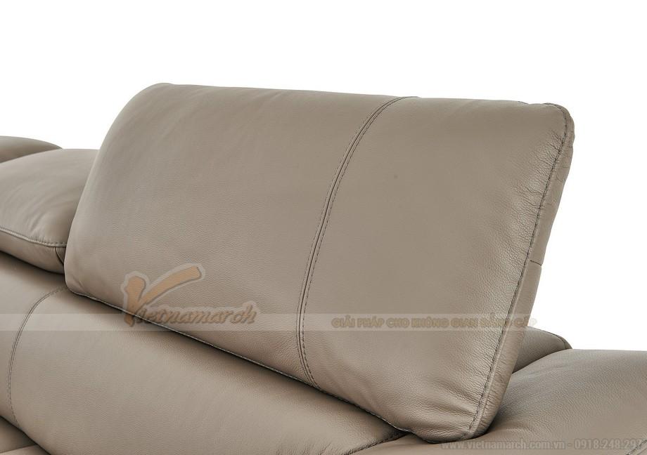Ghế sofa góc chất liệu da nhập khẩu Đức - 04