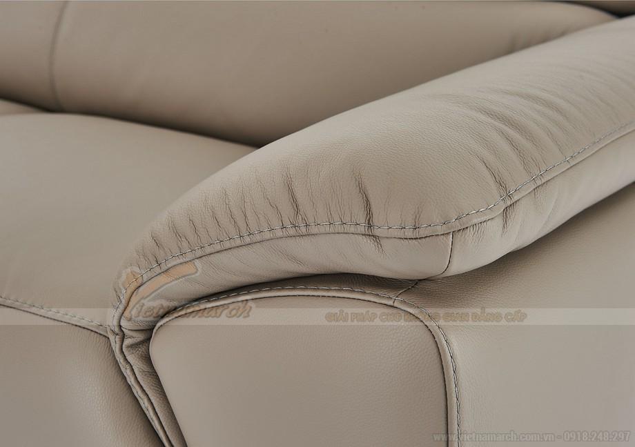 Ghế sofa góc chất liệu da nhập khẩu Đức - 05