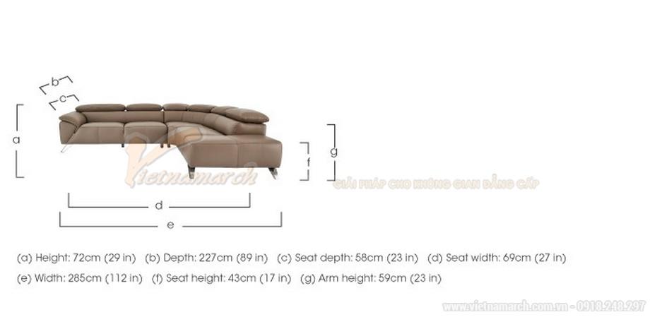 Ghế sofa góc chất liệu da nhập khẩu Đức - 07