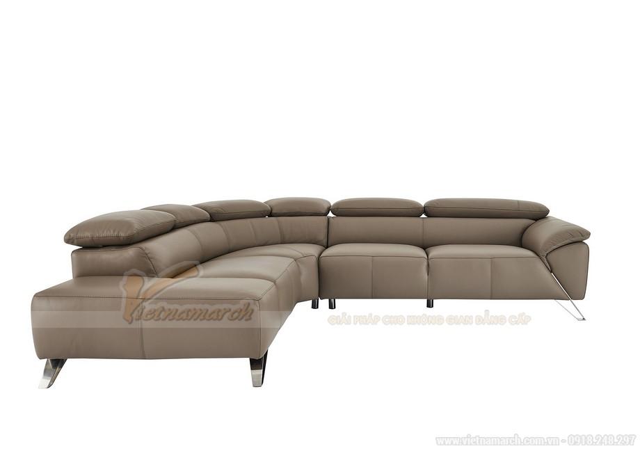 Ghế sofa góc chất liệu da nhập khẩu Đức - 03
